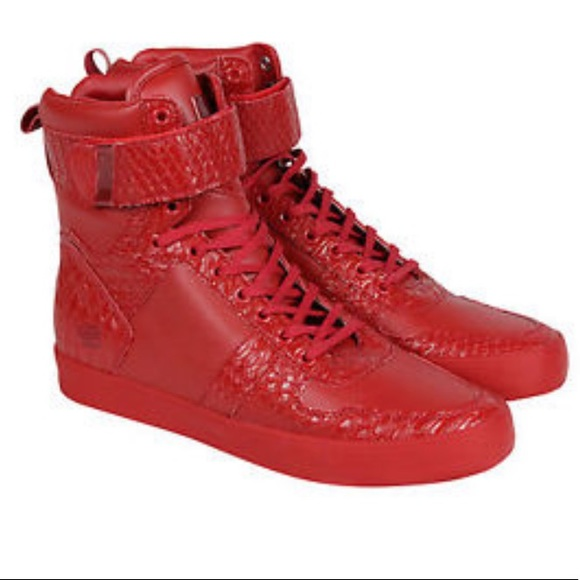 Radii Vertex Red Leather High Top Lace